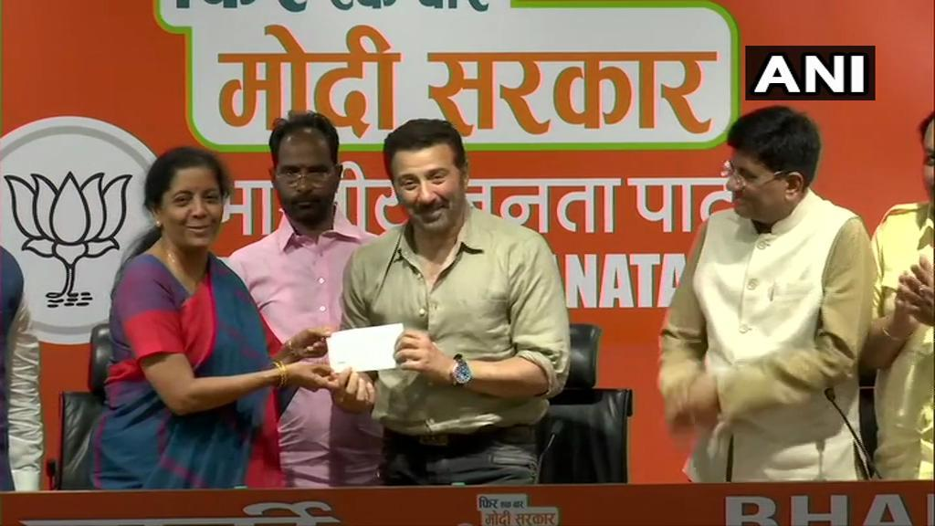 inspired by modi bollywood s sunny deol joins bjp