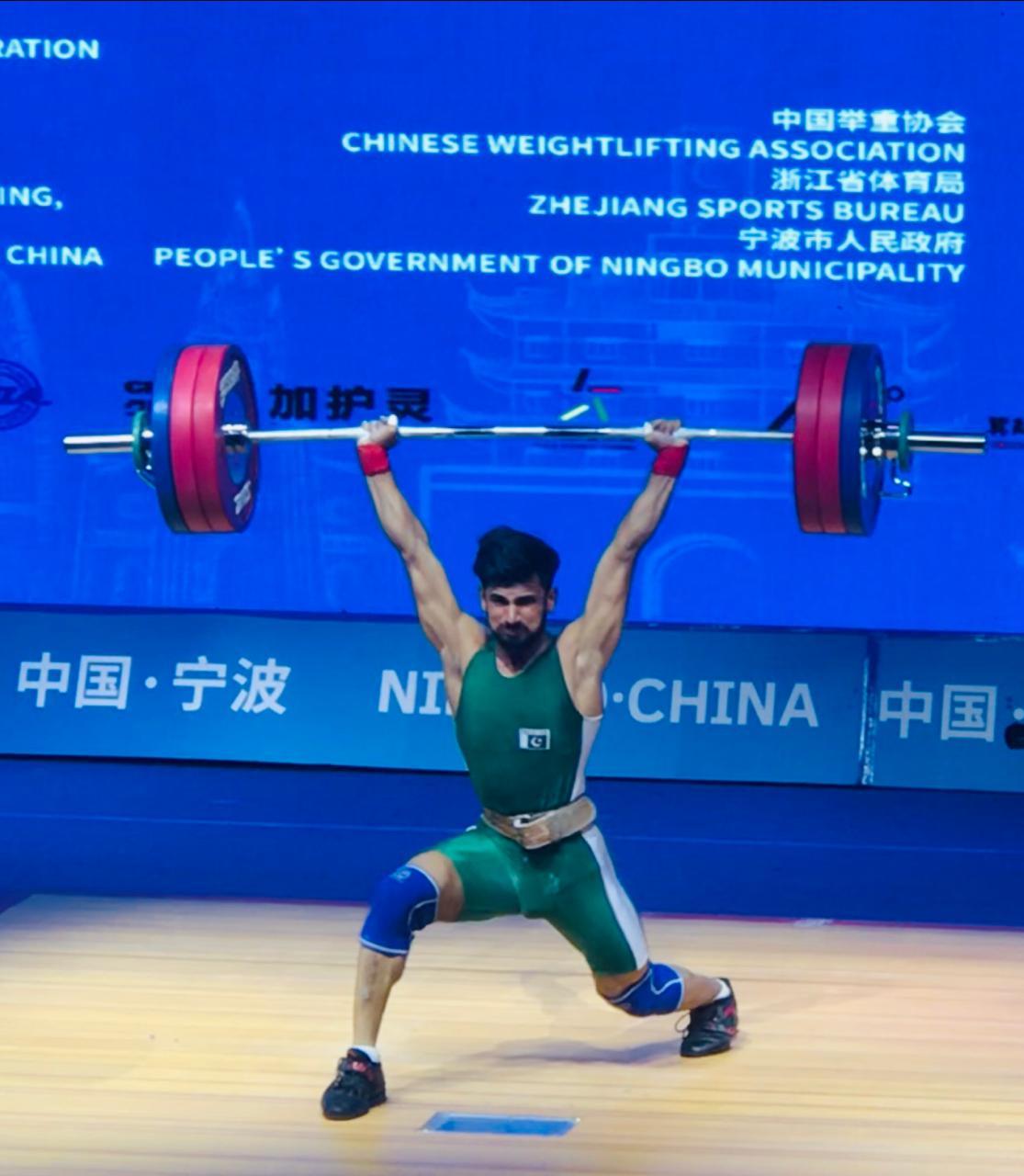 pakistani weightlifter talha eyes olympics berth