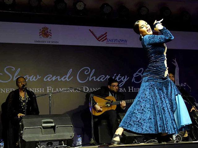 spanish flamenco dancer performs in capital