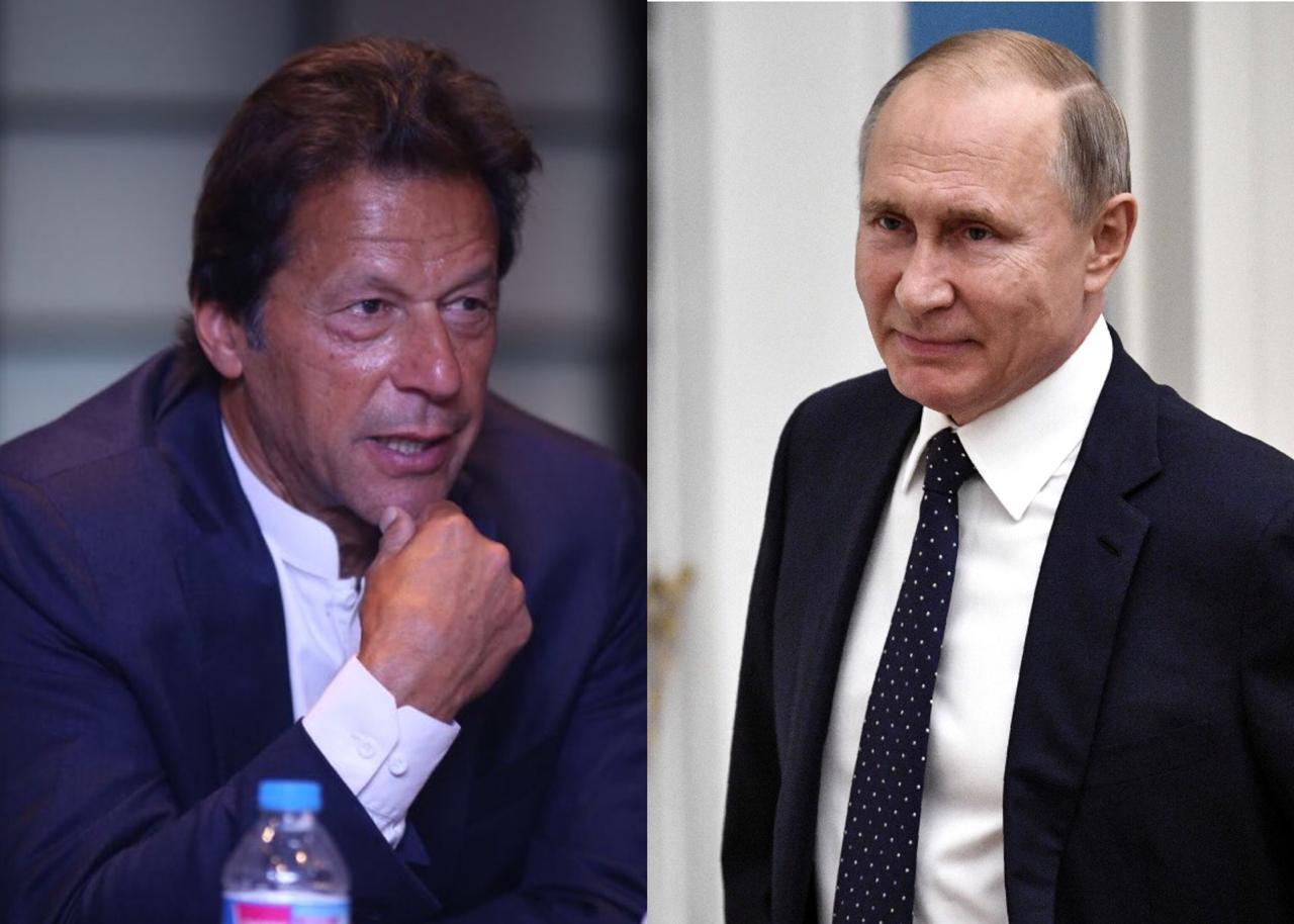 File photos of PM Imran Khan and Russia's President Vladimir Putin.