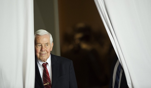 lugar worked on nuclear nonproliferation issues global hunger and energy conservation photo afp