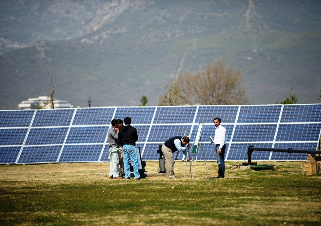 pakistan s largest solar wall inaugurated