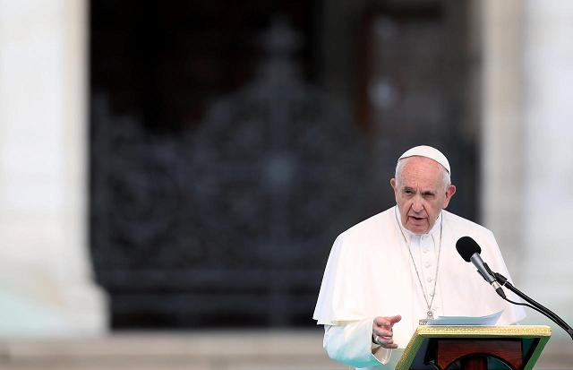 pope says emigration low birth rates have brought ice curtain on europe