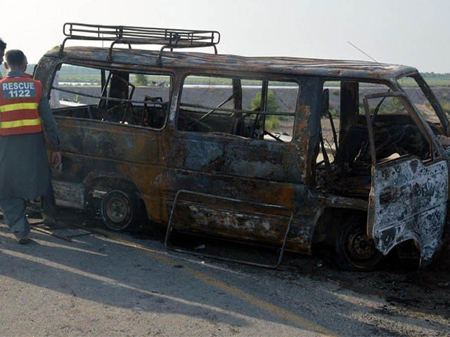 the-ill-fated-van-was-going-to-rawalpindi-from-lahore-when-it-meets-the-incident-on-gt-road-photo-file