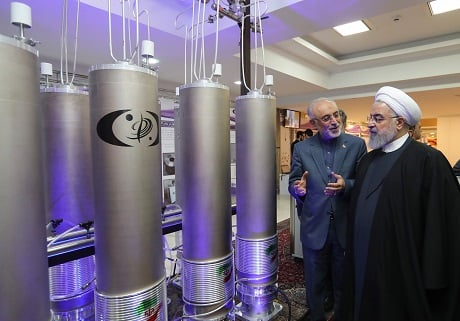 Iran stops respecting limits on its nuclear activities agreed under 2015 deal.PHOTO: AFP