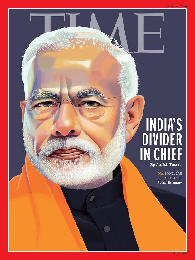 divider in chief time magazine calls modi out for his vitriolic politics