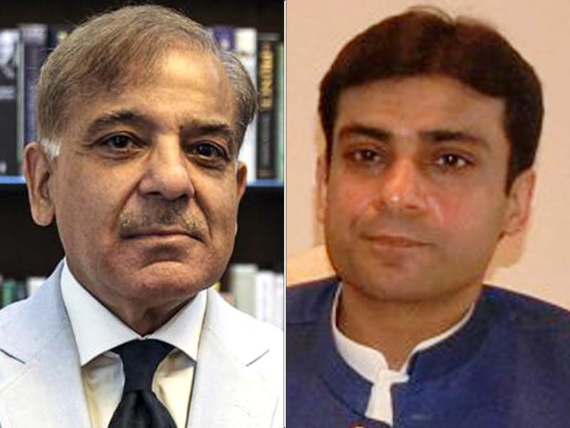 Shehbaz, Hamza to appear before NAB today. PHOTO: FILE