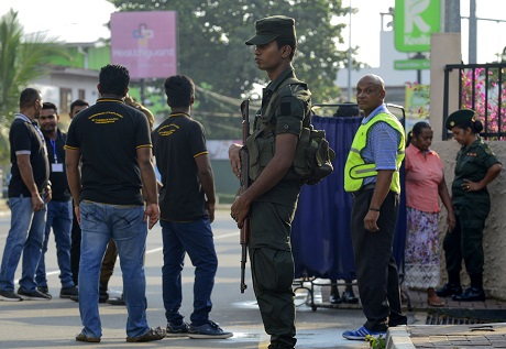 violence erupted in chilaw after a resident misunderstood facebook post as a threat against christians photo afp