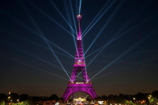 eiffel tower celebrates 130th birthday