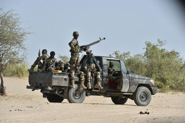 Nigeria's military jeep in the northern militancy hit regions. PHOTO: AFP