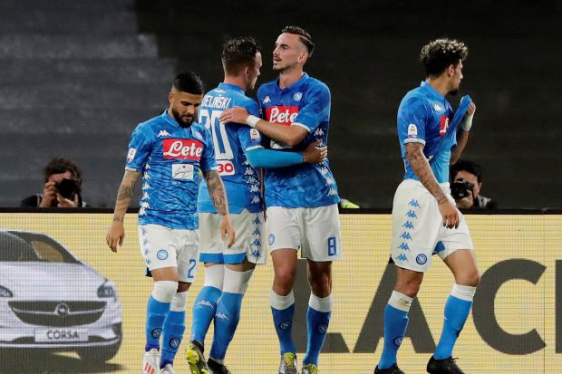napoli leave inter s champions league hopes in the balance