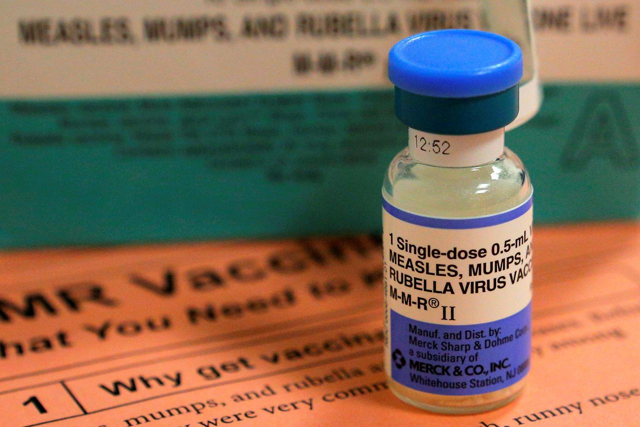 A Reuters file photo of measles vaccine.