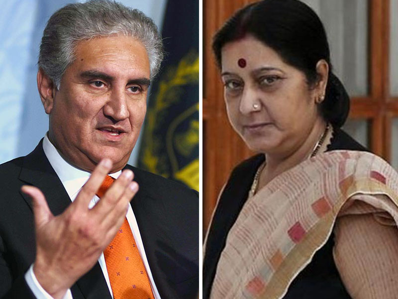 swaraj refuses to stand next to fm qureshi at sco moot