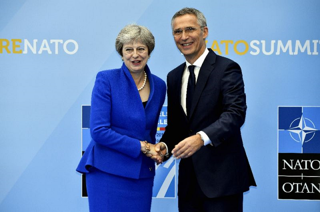 nato secretary general jens stoltenberg said he had discussed preparations for the meeting of heads of state and government with british prime minister theresa may during a visit to london last week photo afp