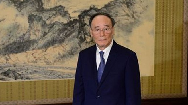 Chinese Vice President Wang Qishan will hold meetings with Arif Alvi and Imran Khan
