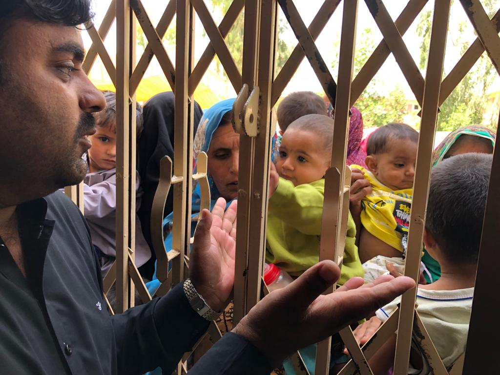 long lines women and children waited for several hours at rato dero taluka hospital to be allowed inside the facility where they would be tested for hiv as thousands made their way to the screening camps authorities found it difficult to manage the influx photo express