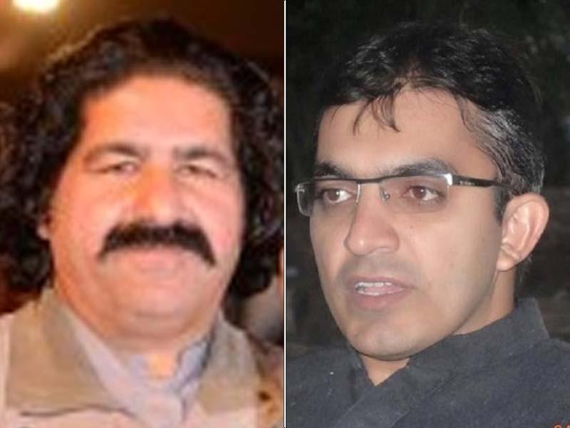 MNAs Mohsin Dawar and Ali Wazir. PHOTO: FILE