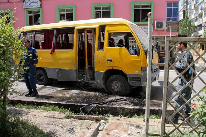 student bus targeted amid deadly wave of kabul bombings