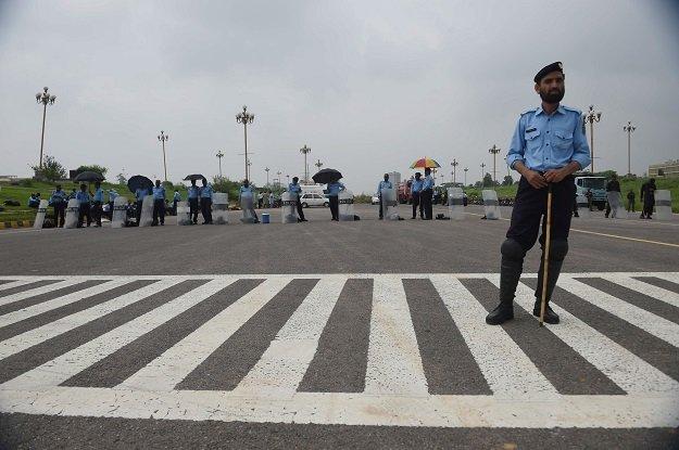Islamabad Police. PHOTO: AFP/FILE