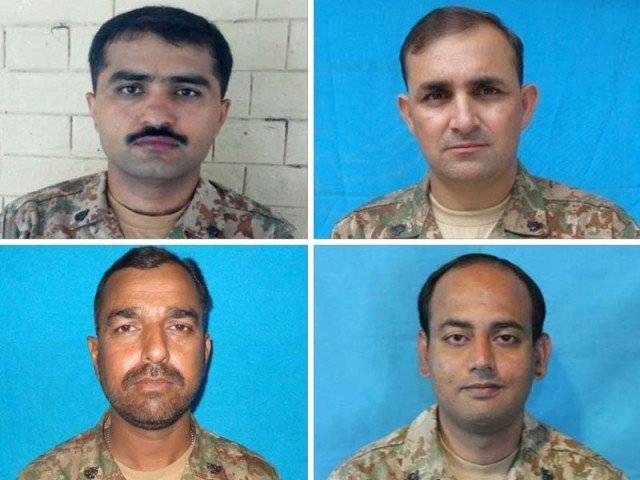 three army officers soldier martyred in north waziristan blast laid to rest
