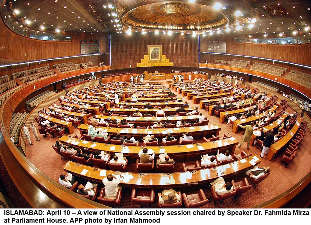 National Assembly of Pakistan. PHOTO: APP
