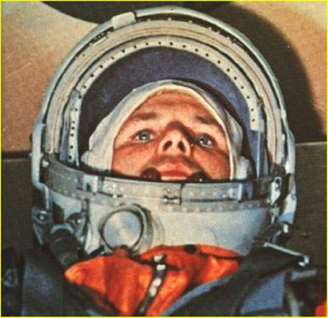russian cosmonaut yuri gagarin the first man in space in his vostok 1 capsule on april 12 1961 photo afp