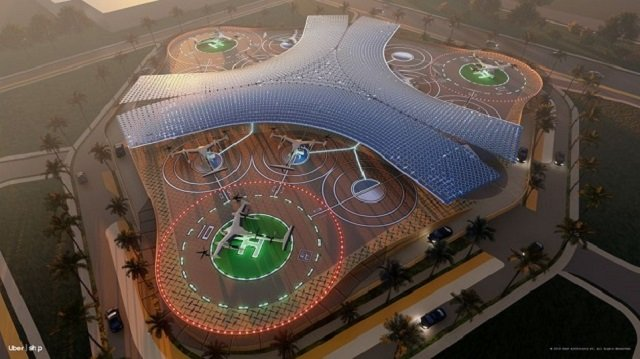 uber reveals design for air taxis and skyports