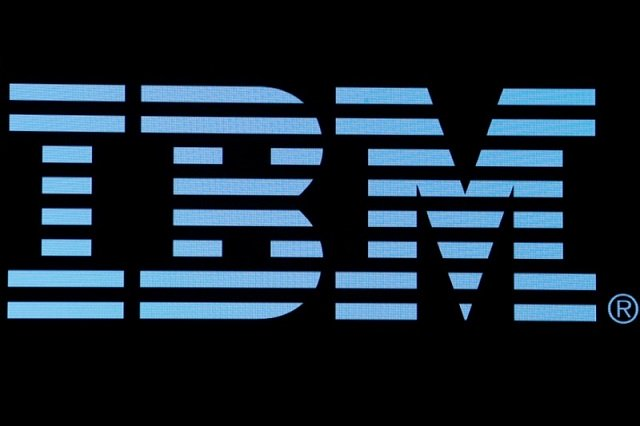 the logo for ibm is displayed on a screen on the floor of the new york stock exchange nyse in new york us june 27 2018 photo reuters