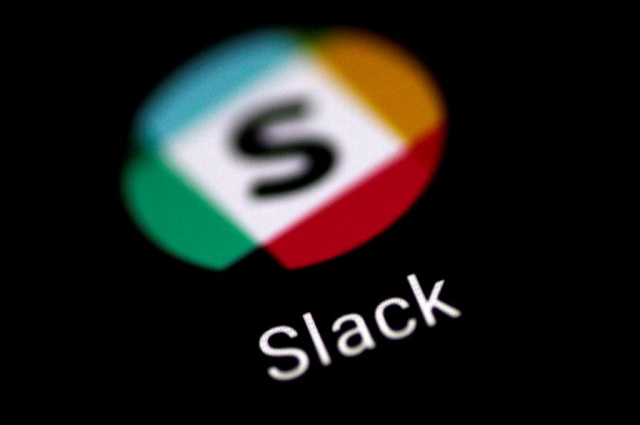 slack rises in wall street debut