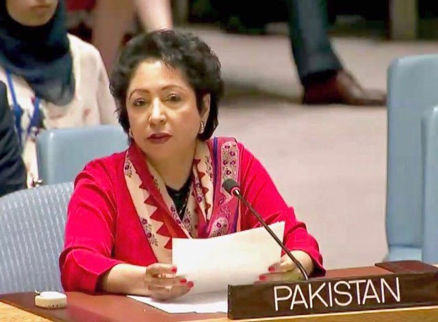 Pakistan's ambassador at United Nations Dr Maleeha Lodhi. PHOTO: TWITTER