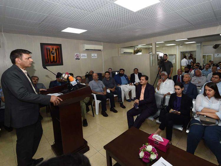 an fbr official addresses pakistani diaspora at the pakistan consulate general in dubai photo gulf news
