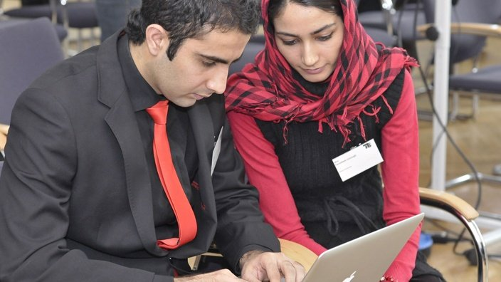 795 Afghan students would begin their studies in the first phase. PHOTO: DEUTSCHLAND.DE
