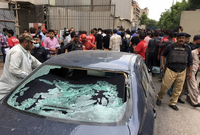 four terrorists among eight gunned down in attack on pakistan stock exchange