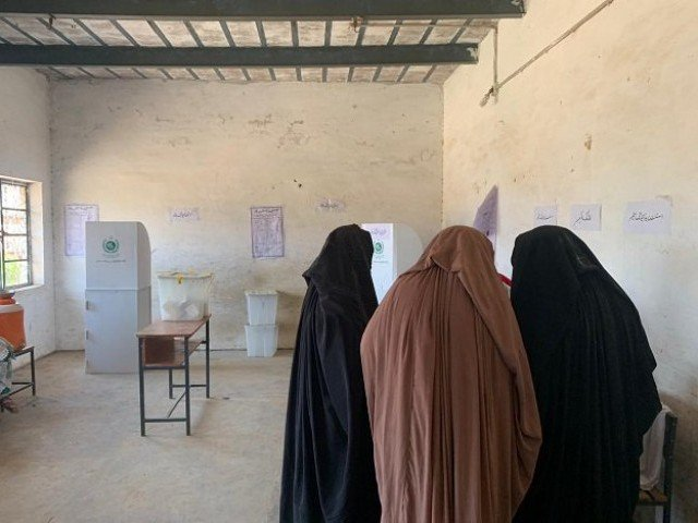 Women voters casts their ballots during the July 20 elections in erstwhile FATA. PHOTO: EXPRESS