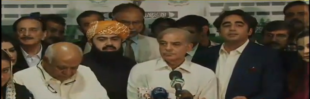 leader of the opposition shehbaz sharif flanked by ppp chairman bilawal bhutto zardari screen grab