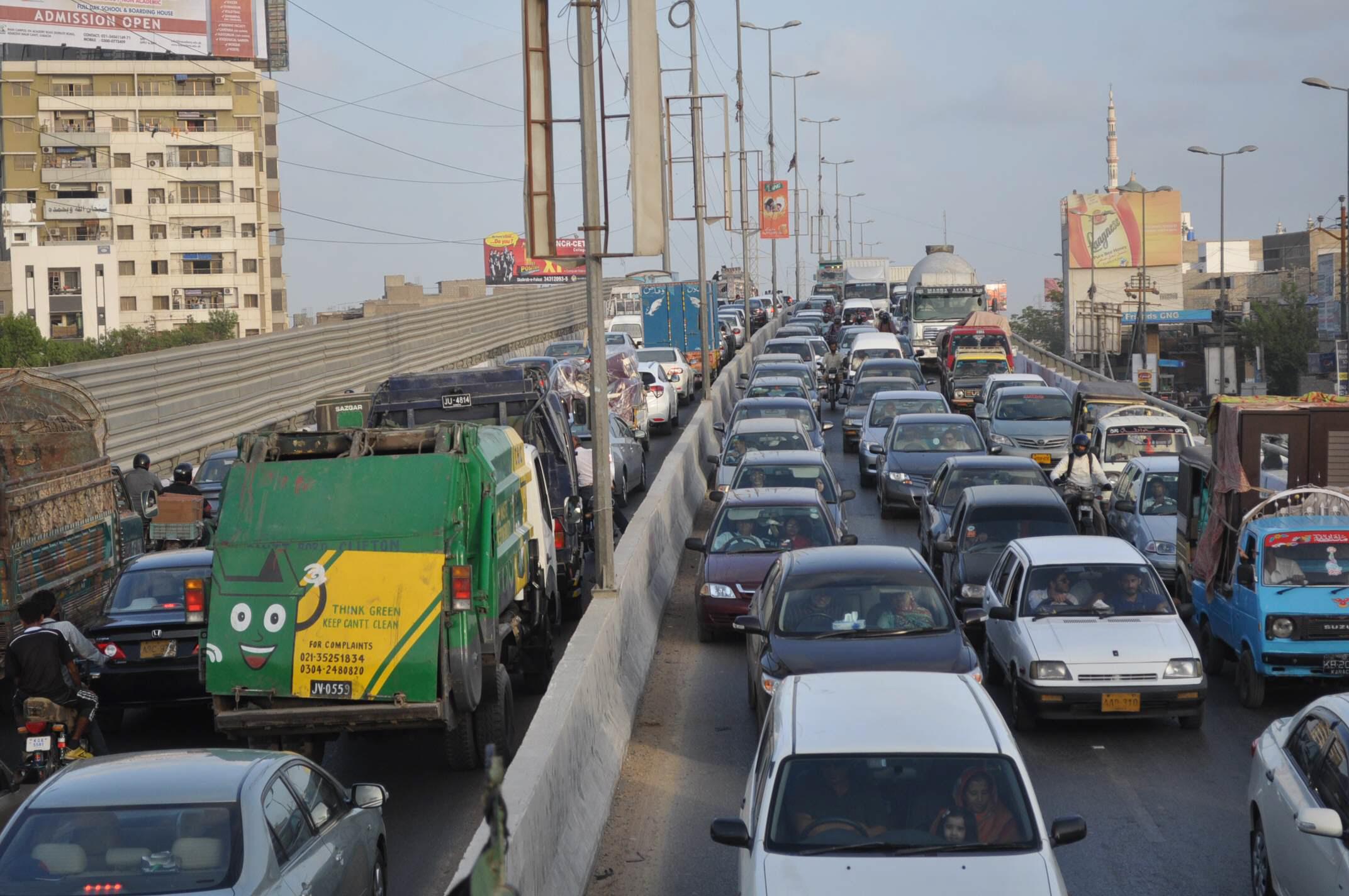 korangi causeway opened for traffic after 43 hours