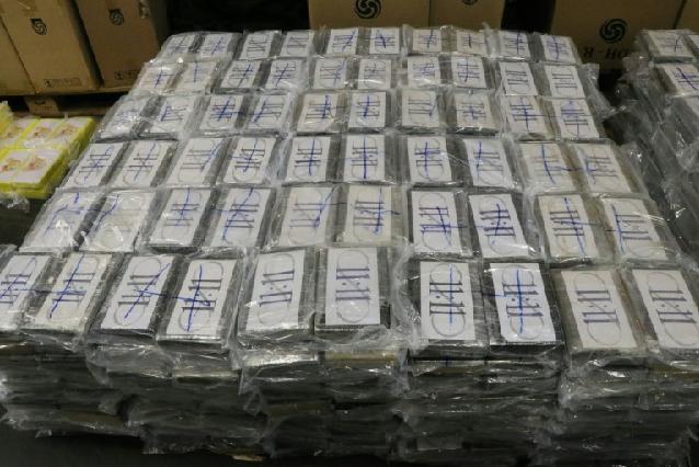 4.5 tonnes of cocaine. PHOTO: AFP