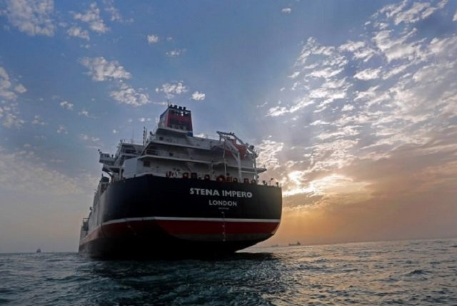 Last month, Iran seized a British tanker in the Strait of Hormuz for alleged marine violations and allowed a second one to proceed after issuing a warning.  PHOTO: REUTERS