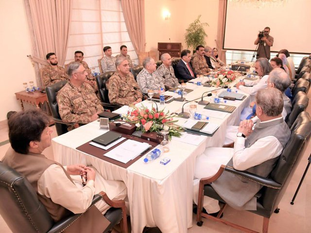 Senior ministers, military leaders attend high-level huddle, chaired by the prime minister in Islamabad. PHOTO: PID