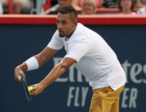 kyrgios suffers first round loss in montreal masters