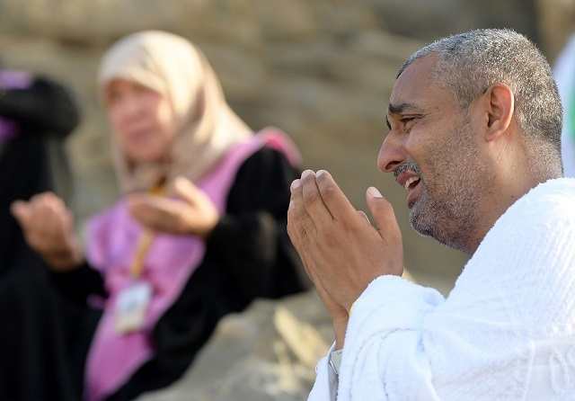 in pictures day of prayer on mount arafat