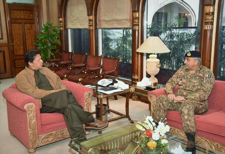 pm imran khan with coas general bajwa photo express file