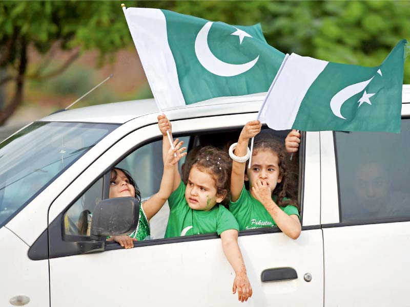 people celebrate independence day