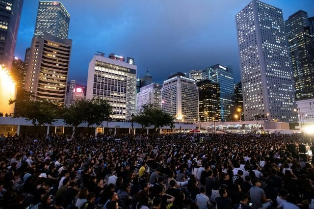 Weeks-long unrest has plunged the city into its deepest crisis in decades. PHOTO: AFP