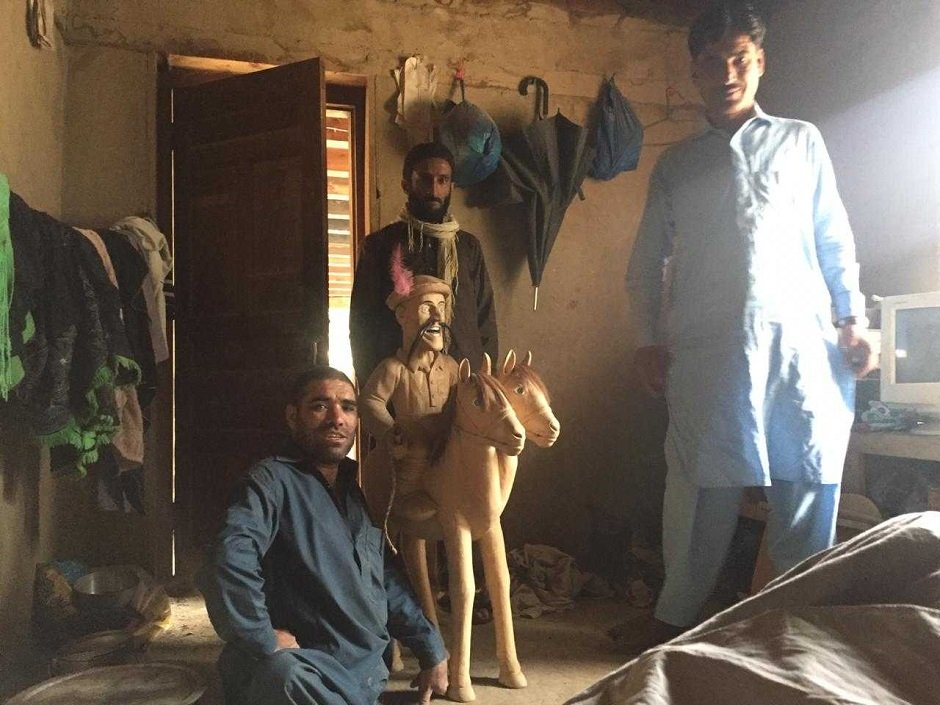 Instead of letting his disabilities be a burden, Wali has put his artistic talents towards the welfare of his people. PHOTO: EXPRESS