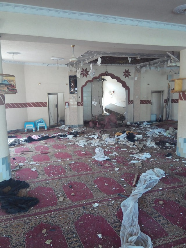 four worshippers martyred in blast inside mosque in quetta suburbs