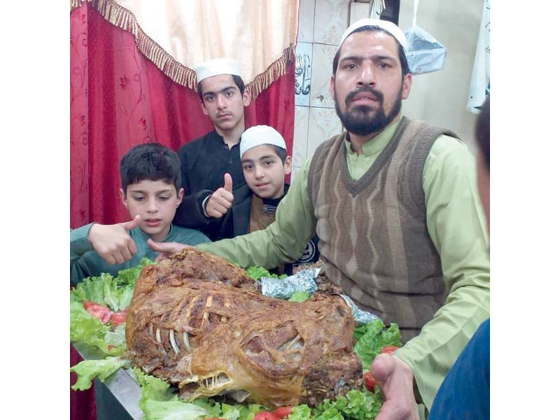 foreign delight arabian lamb roast sells well in namak mandi