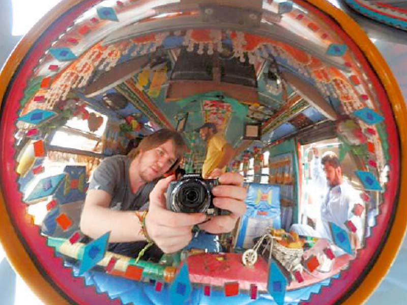 German student immerses himself in Pakistani culture during his visit. PHOTO: COURTESY YANNICK HUG