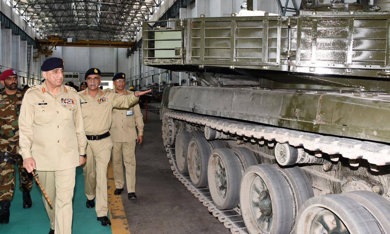 army chief general qamar bajwa visited pakistan ordnance factories wah and heavy industries taxila on wednesday photo ispr