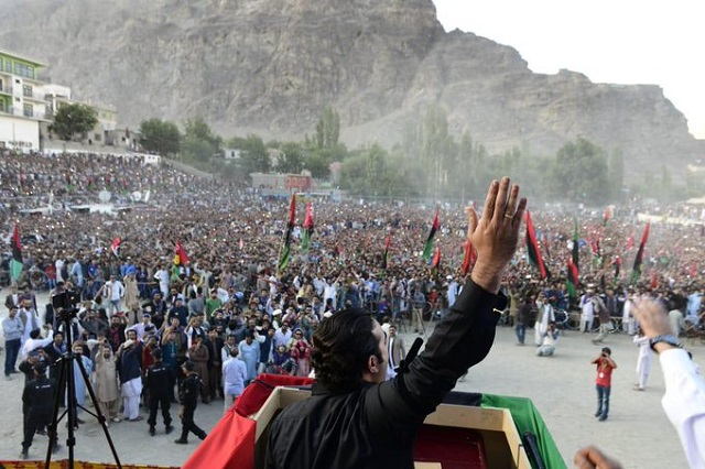 PPP chairman says country's foreign policy left in tatters by govt in just a year. PHOTO: TWITTER/(PPPMediacell)
